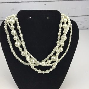 Multi strand Faux Pearl necklace/choker
